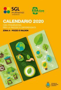 Sgl Multiservizi Calendario 2021 calendario 2020 zona A   SGL Multiservizi